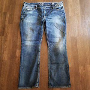 Silver Jeans Suki Mid Boot Cut Jeans PLUS Sz 24
